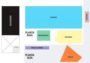 Plano Opus Teatro - Río Cuarto